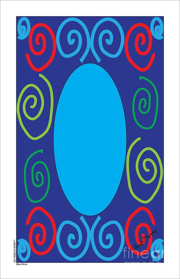 132 Blue Mirror by Cheryl Turner