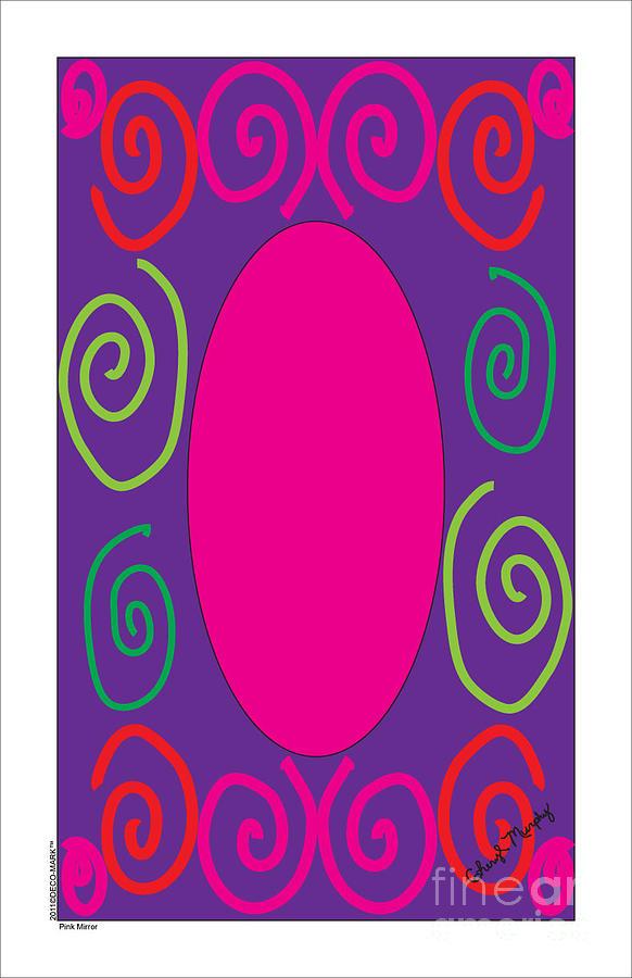 133 Pink Mirror by Cheryl Turner