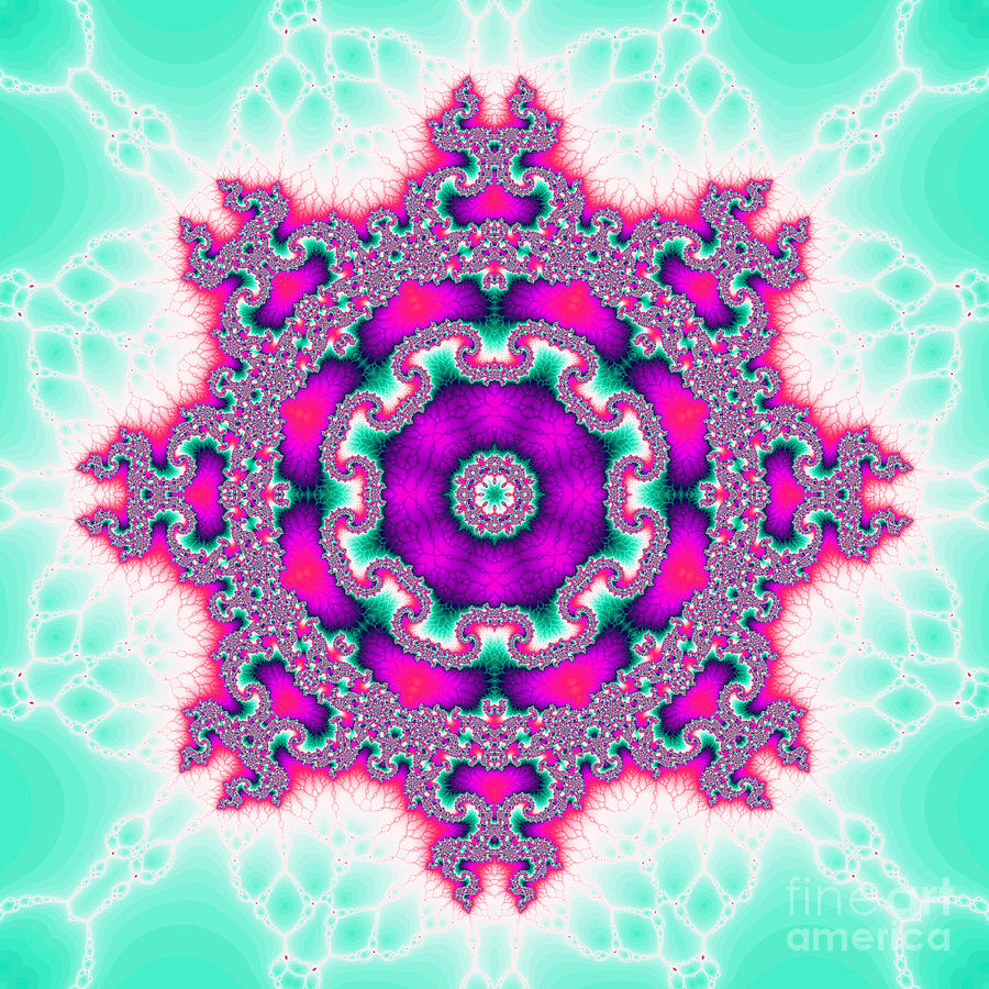 Fracta Digital Art - The Kaleidoscope by Odon Czintos
