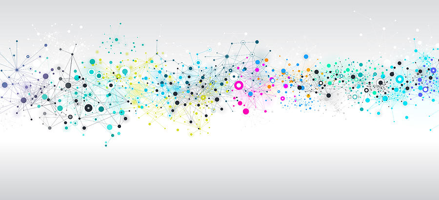 Abstract Network Background Drawing by AF-studio