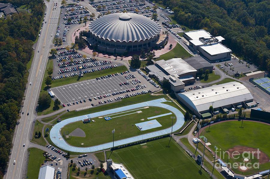 Aerials Photograph - aerials of WVVU campus by Dan Friend