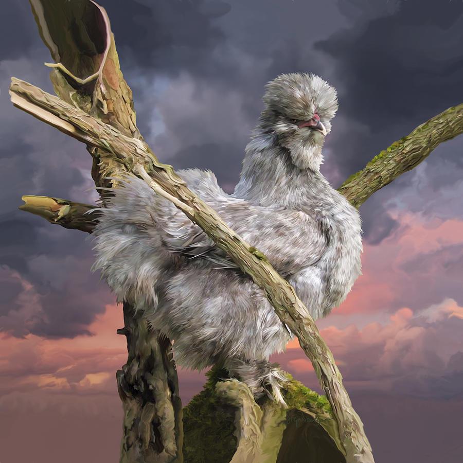 Chicken Digital Art - 14. Cuckoo bush by Sigrid Van Dort