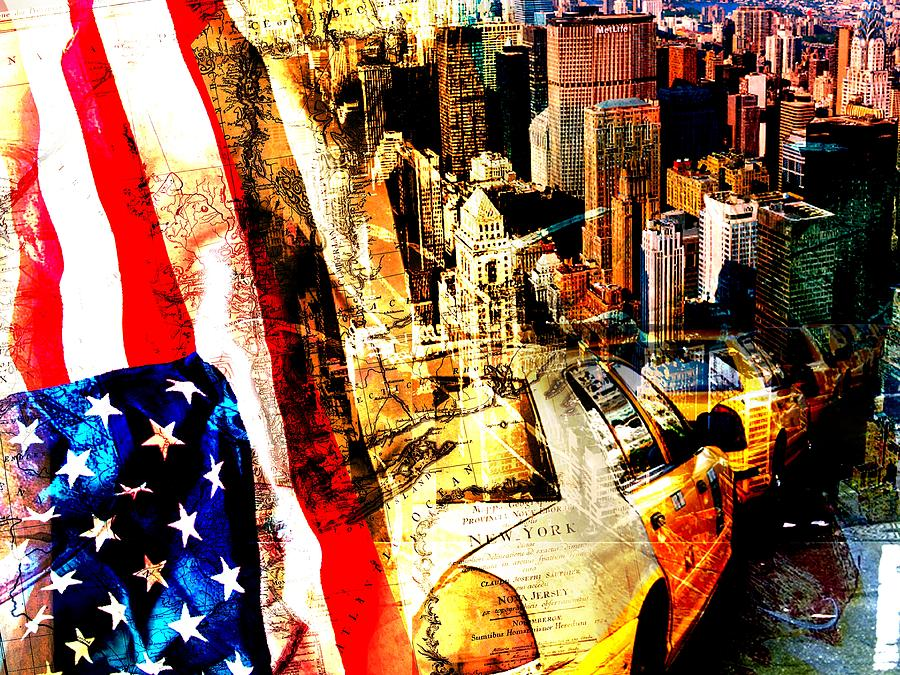 New York Collage is a piece of digital artwork by Michael Kuelbel ...