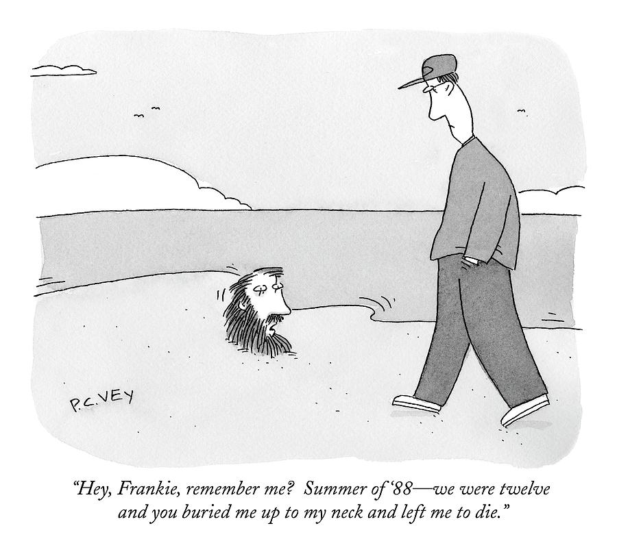 Hey, Frankie, Remember Me?  Summer Of 88 - Drawing by Peter C. Vey