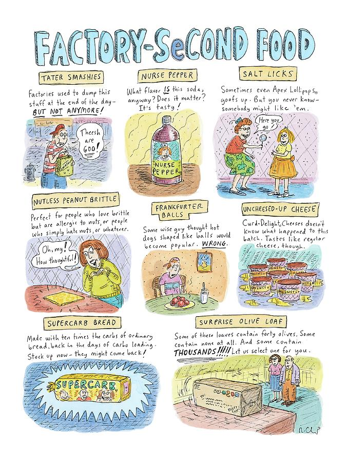 Factory Second Food Drawing by Roz Chast