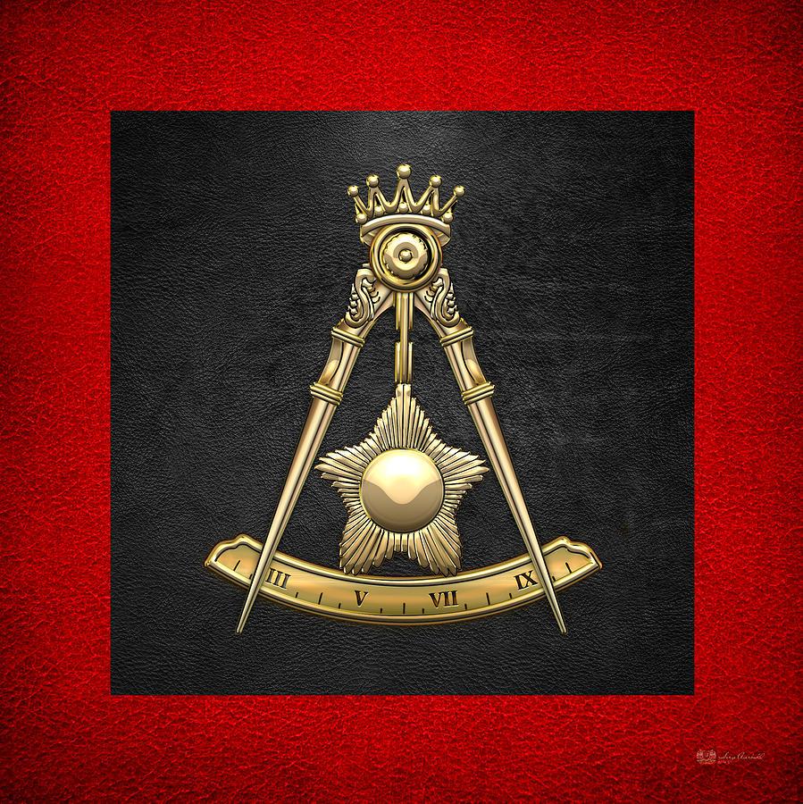 Scottish Rite Digital Art - 14th Degree Mason - Perfect Elu Masonic Jewel  by Serge Averbukh