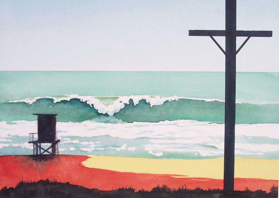 Surf Painting - 14th Street Huntington Beach by Philip Fleischer