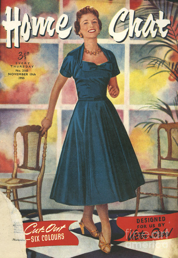 Magazine Cover Drawing - 1950s Uk Home Chat Magazine Cover by The Advertising Archives
