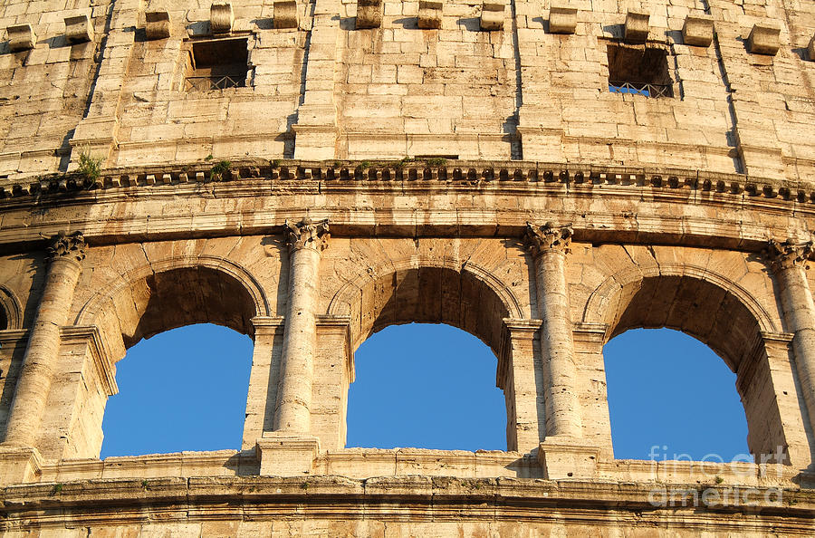 Photos Photograph - Colosseum In Rome by George Atsametakis