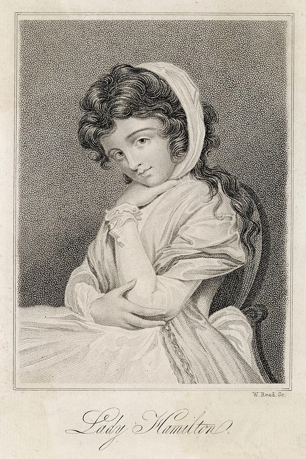 Emma Drawing - Emma, Lady Hamilton  Wife Of Lord by Mary Evans Picture Library