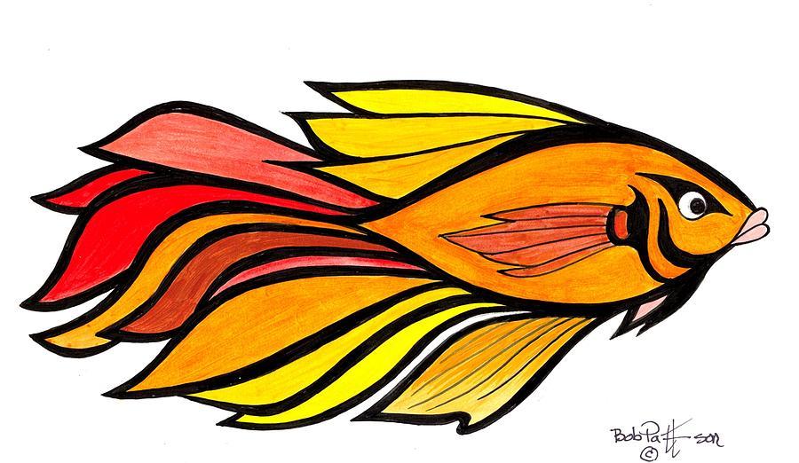 Fantasy Tropical Fish 15 Painting by Bob Patterson