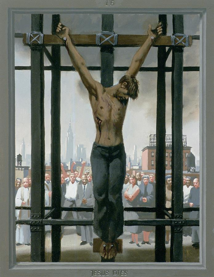 Jesus Painting - 15. Jesus Dies / from The Passion of Christ - A Gay Vision by Doug Blanchard