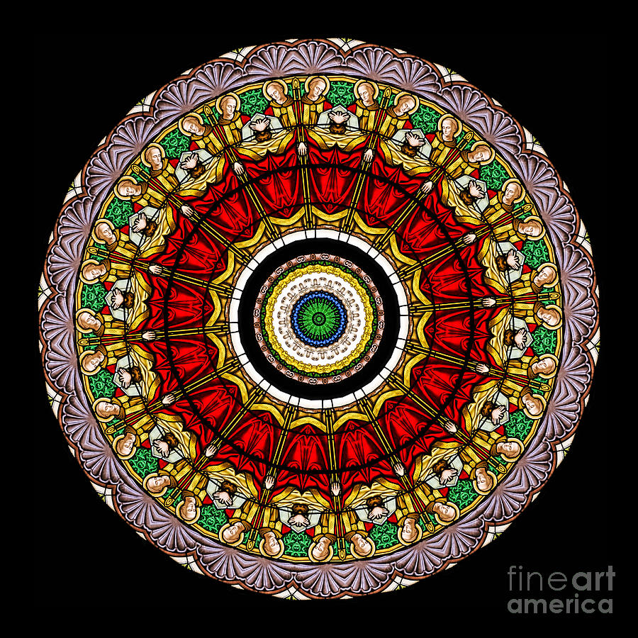 Abstract Photograph - Kaleidoscope Stained Glass Window Series by Amy Cicconi