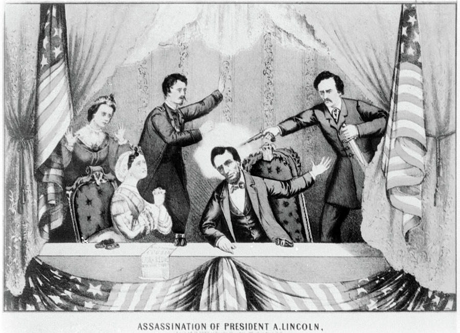 1865 Painting - Lincoln Assassination by Granger