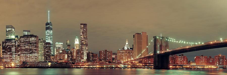 New York City Photograph - Manhattan Downtown by Songquan Deng