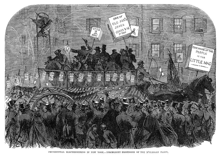 1864 Painting - Presidential Campaign, 1864 by Granger