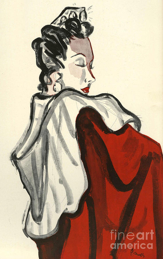 1930s Drawing - Women�s Fashion 1930s 1939 1930s Uk by The Advertising Archives