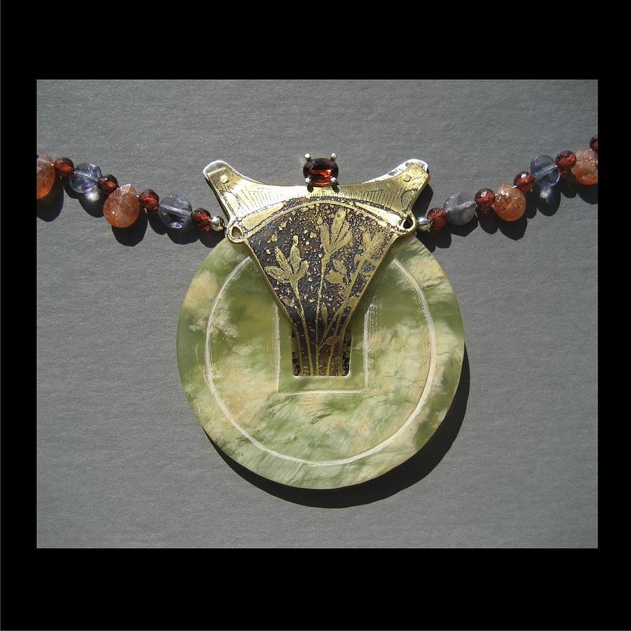 Wild Flowers Jewelry - 156 Jade  by Brenda Berdnik
