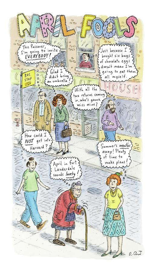 New Yorker April 2nd, 2007 Drawing by Roz Chast