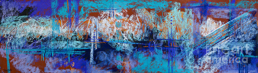 Abstract Pastel - Bridges To Nowhere by Tracy L Teeter