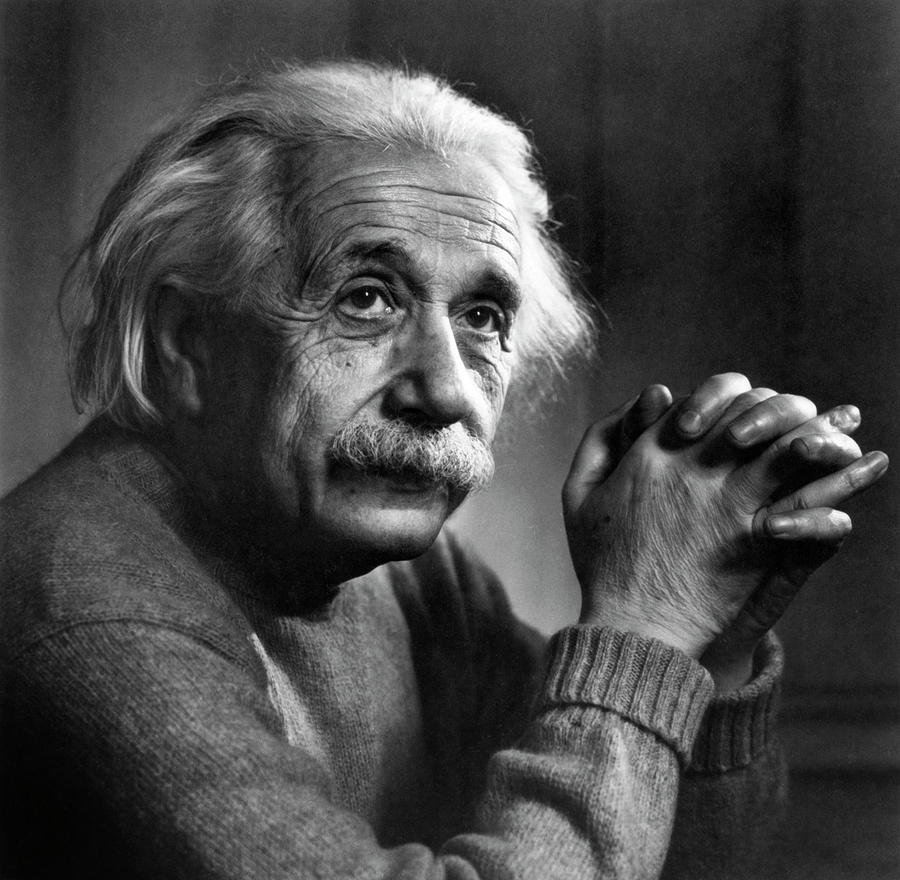 Adult Photograph - Albert Einstein by Emilio Segre Visual Archives/american Institute Of Physics