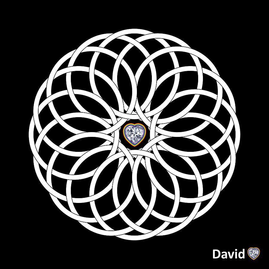 Torus Digital Art - 16 Circles by David Diamondheart