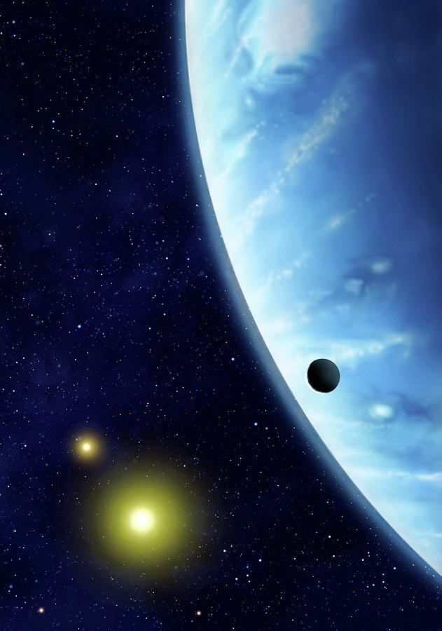 Exoplanet Photograph - 16 Cygni B Planet by Mark Garlick/science Photo Library