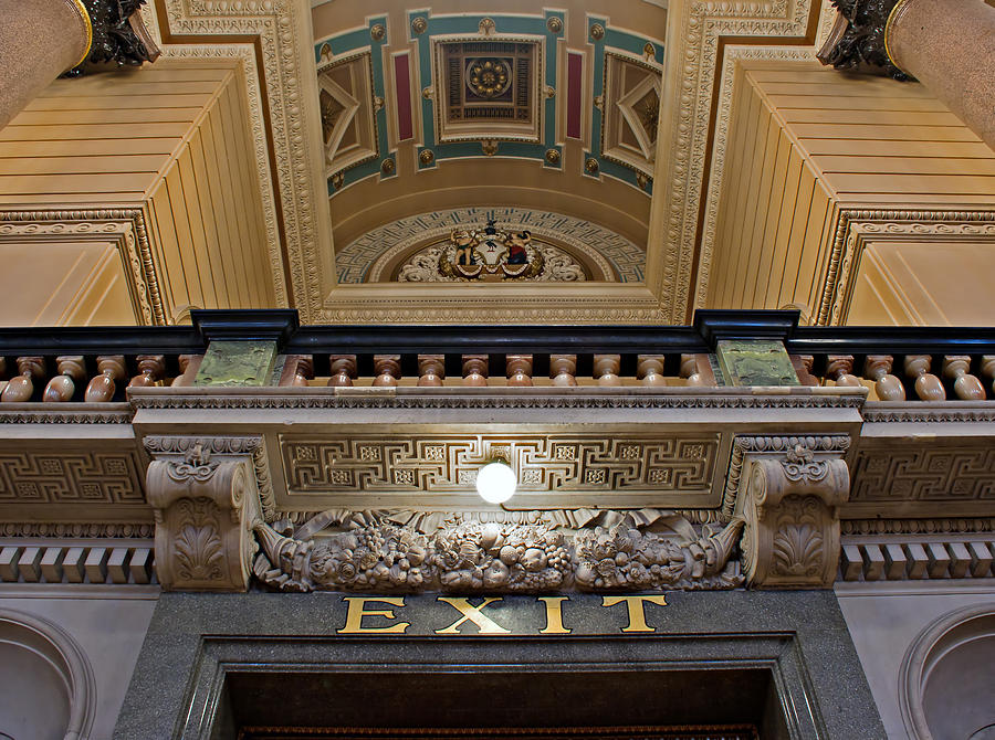 Neo Classical Photograph - Interior Of St Georges Hall Liverpool Uk by Ken Biggs