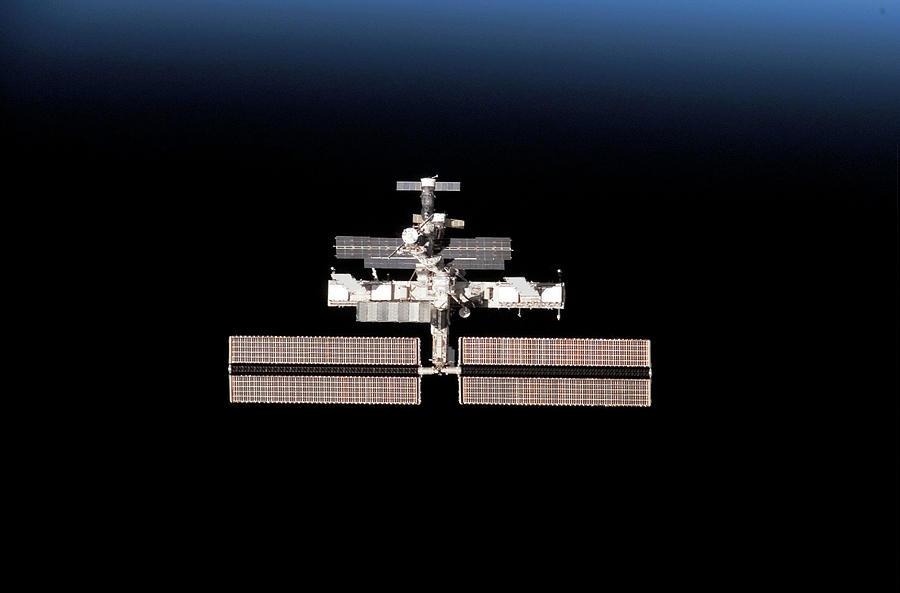 International Space Station Photograph - International Space Station by Nasa/science Photo Library