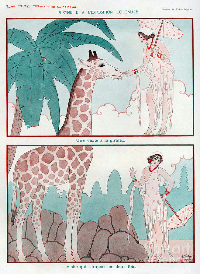 1930s Drawing - La Vie Parisienne  1931 1930s France Cc by The Advertising Archives