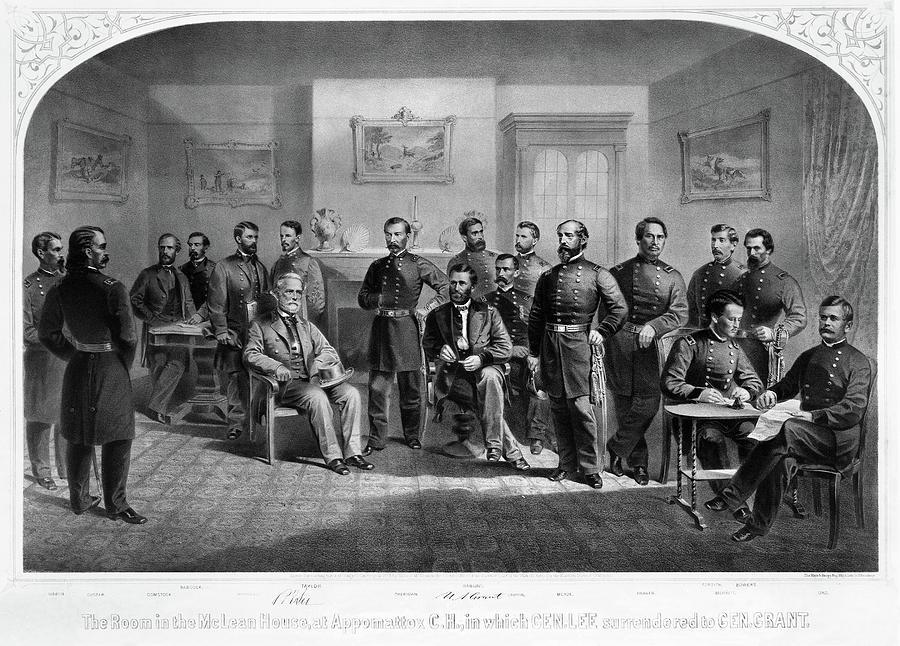 1865 Painting - Lees Surrender, 1865 by Granger