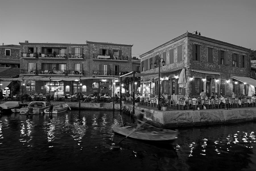 Molyvos Village During Dusk Time Photograph by George Atsametakis