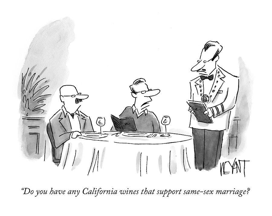 Do You Have Any California Wines That Support Drawing by Christopher Weyant