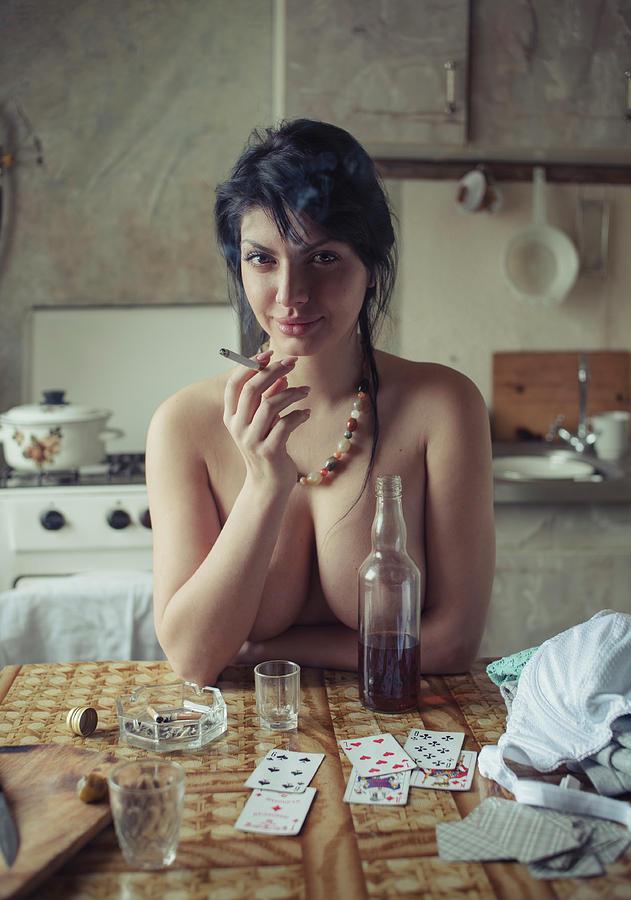 Fine Art Nude Photograph - Untitled by David Dubnitskiy