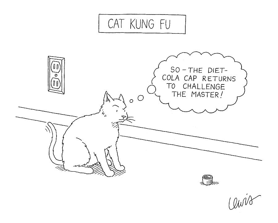 Cat Kung Fu Drawing by Eric Lewis