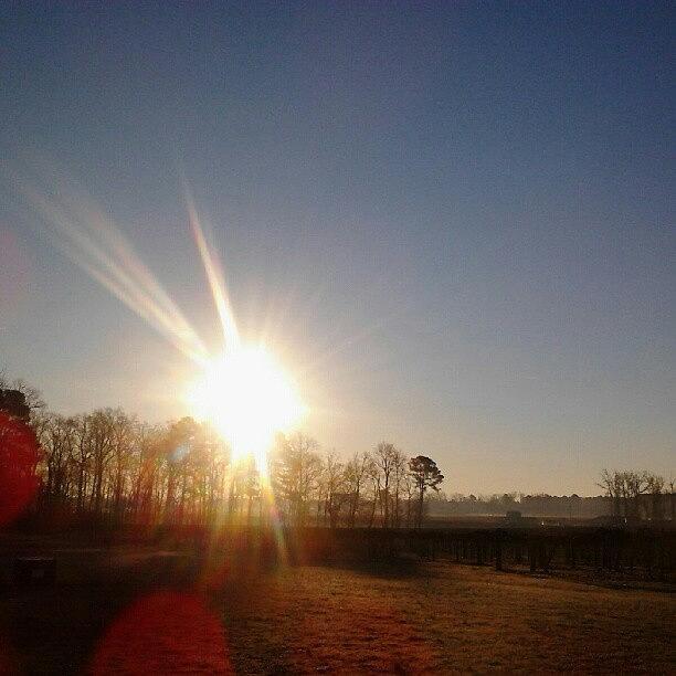Sunrise Photograph - 1.6.13. #nofilter, #sunrise by Chris Morgan