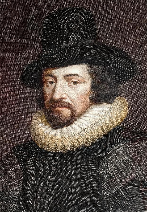 17th Century Photograph - 1618 Sir Francis Bacon Scientist Portrait by Paul D Stewart