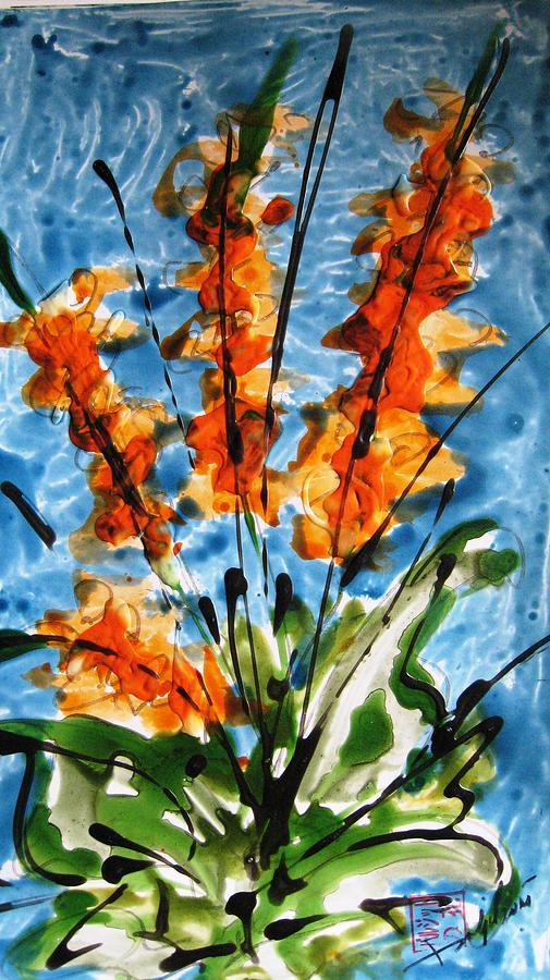 Miyoko Flowers Painting