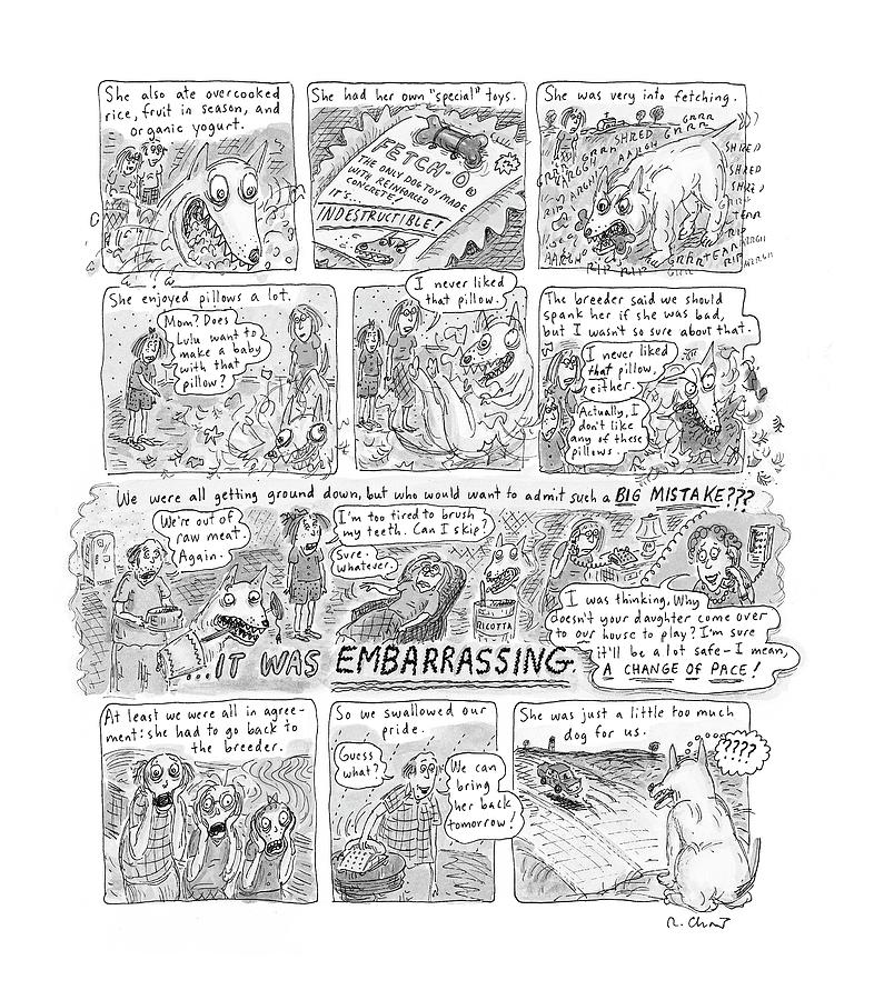 New Yorker November 12th, 2001 Drawing by Roz Chast