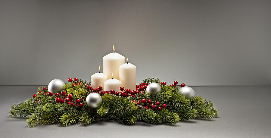 Cone Photograph - Advent Wreath by U Schade