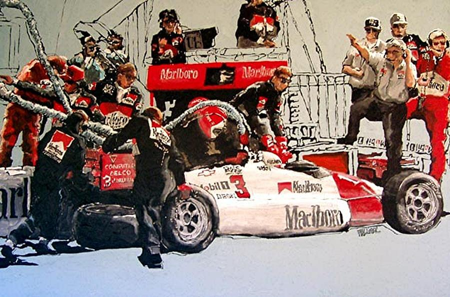 Automobile Racing Painting - Automobile Racing by Paul Guyer