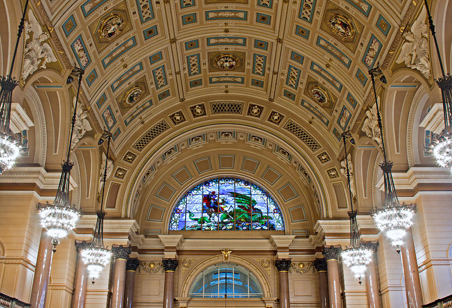 Culture Photograph - Interior Of St Georges Hall Liverpool Uk by Ken Biggs