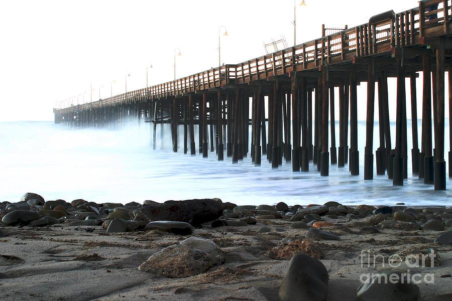 Sunrise Pastel - Ocean Wave Storm Pier by Henrik Lehnerer