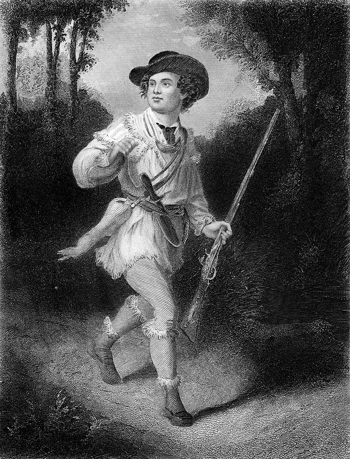 Vertical Painting - 1700s 1770s A Morgans Rifleman Wearing by Vintage Images