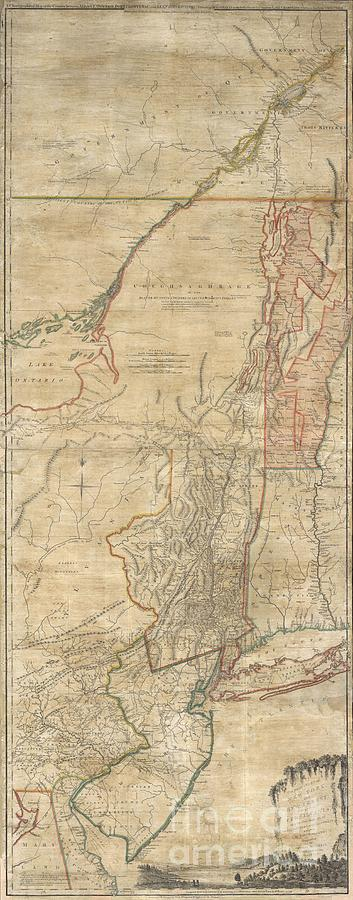 New Jersey Photograph - 1768 Holland  Jeffreys Map Of New York And New Jersey  by Paul Fearn