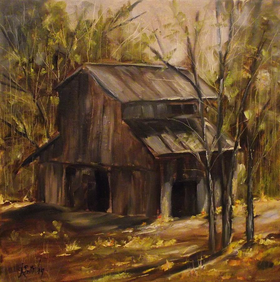 Barn Painting - 177 Old School Road by Angela Sullivan