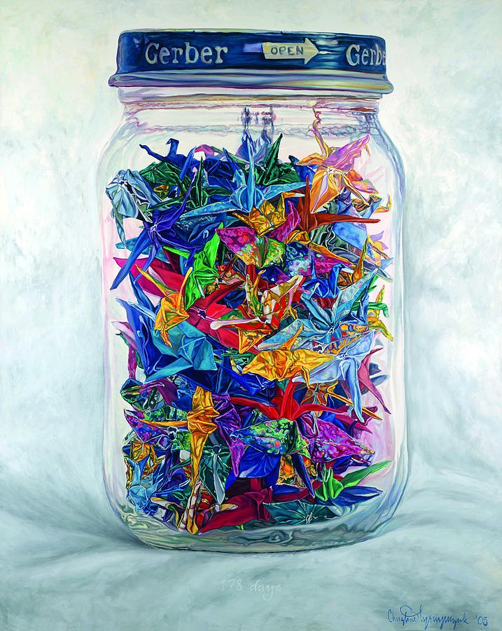 Origami Painting - 178 Days by Christine Lytwynczuk