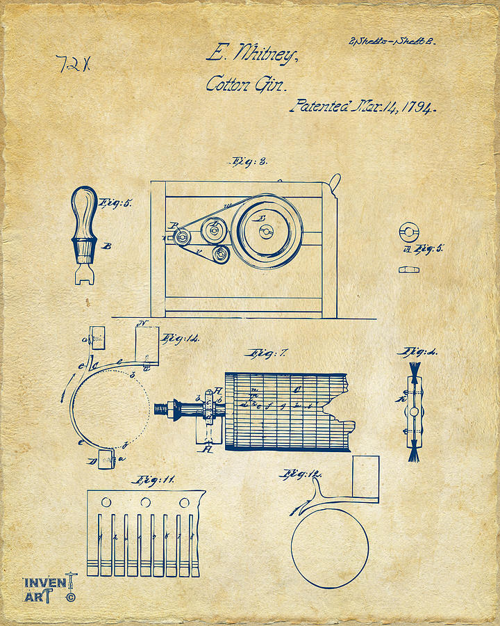 It is a photo of Eloquent Cotton Gin Easy Drawing