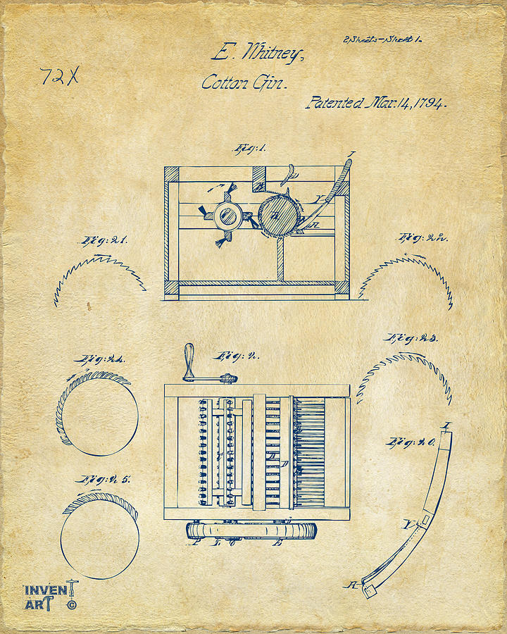 It is a photo of Exhilarating Cotton Gin Easy Drawing