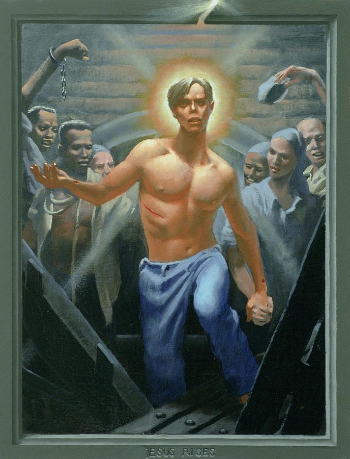 Jesus Painting - 18. Jesus Rises / From The Passion Of Christ - A Gay Vision by Douglas Blanchard